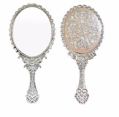 Oferta espejo de mano vintage color plata 25cm - Espejos color plata ...