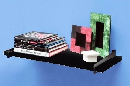 oferta!! estante repisa para libros 80x30 color negro