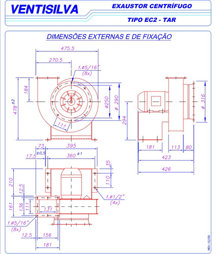 oferta exaustor industrial centrífugo trifásico ec2tar
