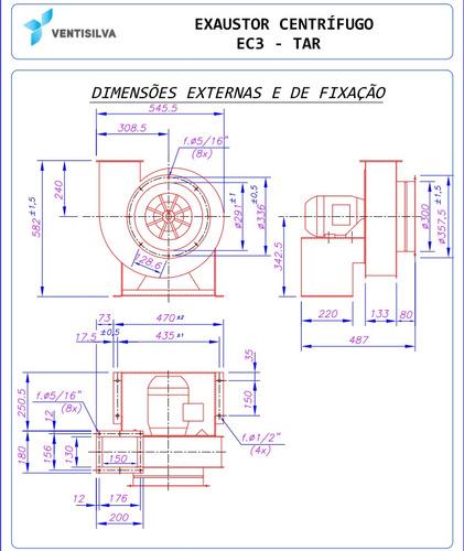 oferta exaustor industrial centrífugo trifásico ec3tar
