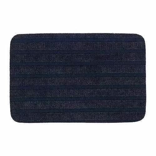 oferta felpudo antideslizante azul negro borris ikea suecia