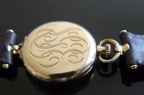oferta fino reloj antiguo oro solido 14k elgin 1916 a cuerda