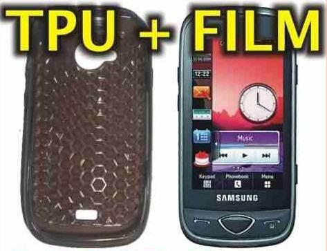 oferta! funda protectora tpu + film protector samsung s5560