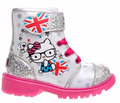 oferta hello kitty sanrio botas plateadas