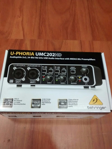 oferta interface behringer hd umc202 + envio