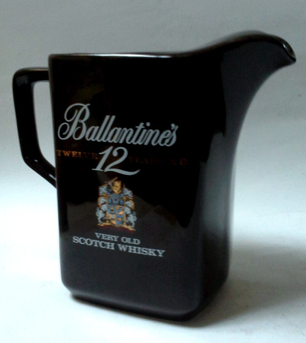 oferta jarra cerámica ballantines 12 years old scotch whisky