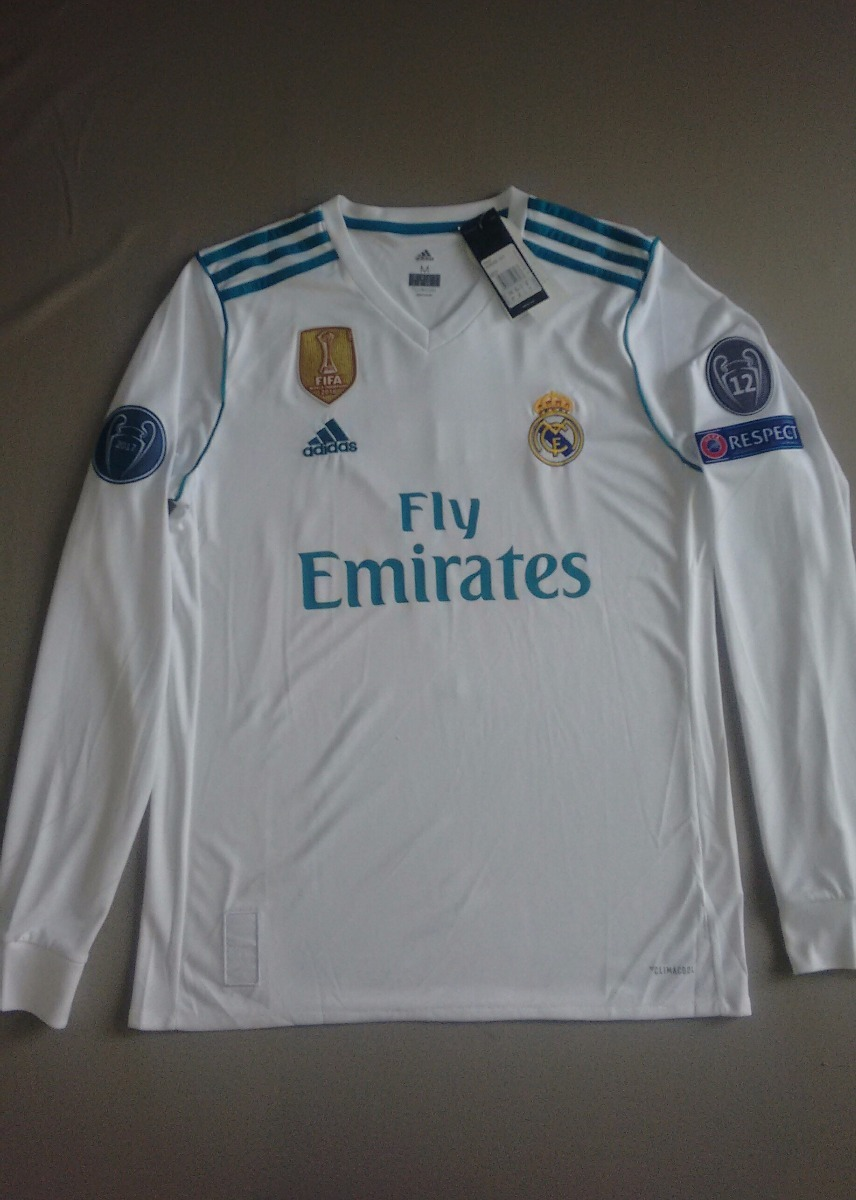 a4813f9c4ea5a Oferta!! Jersey Real Madrid 2017-18 Home Champions League -   629.00 ...