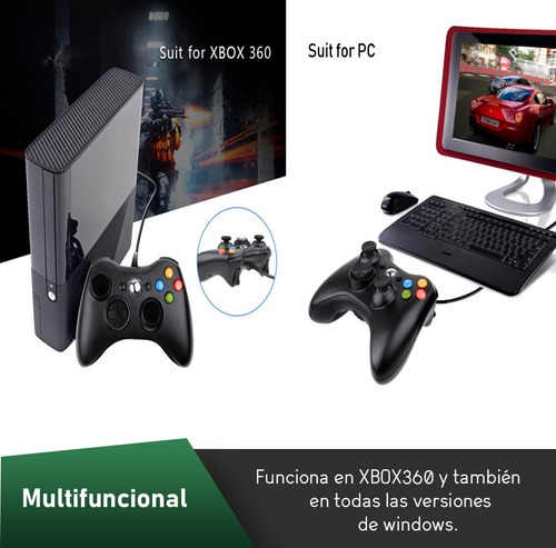 oferta! joystick mando control xbox pc cable 2.5 mts!