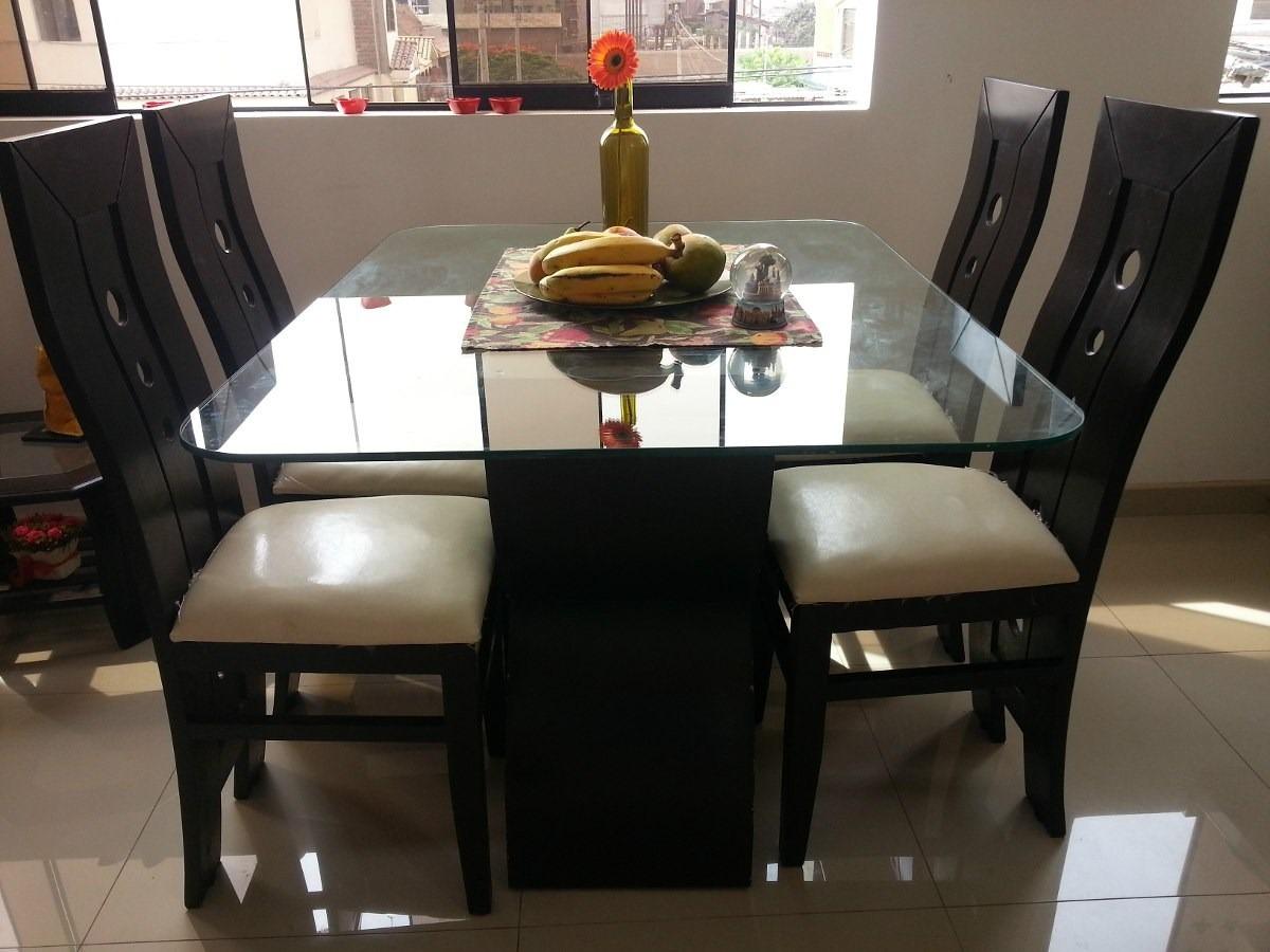 Oferta juegos de comedor nogal de 4 sillas desde 380 soles for Ofertas de comedores