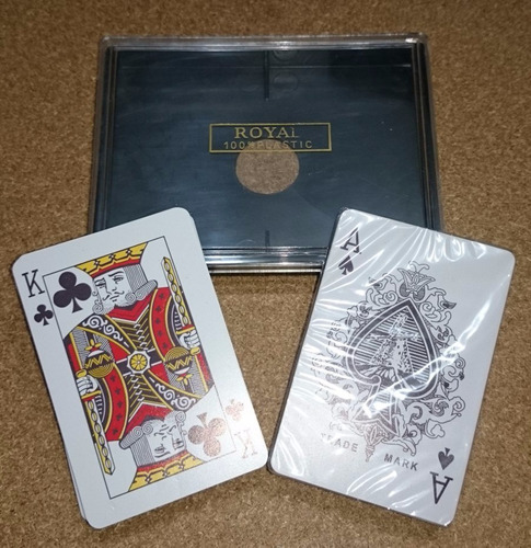 oferta kit: 2 barajas poker plástico y  200 fichas