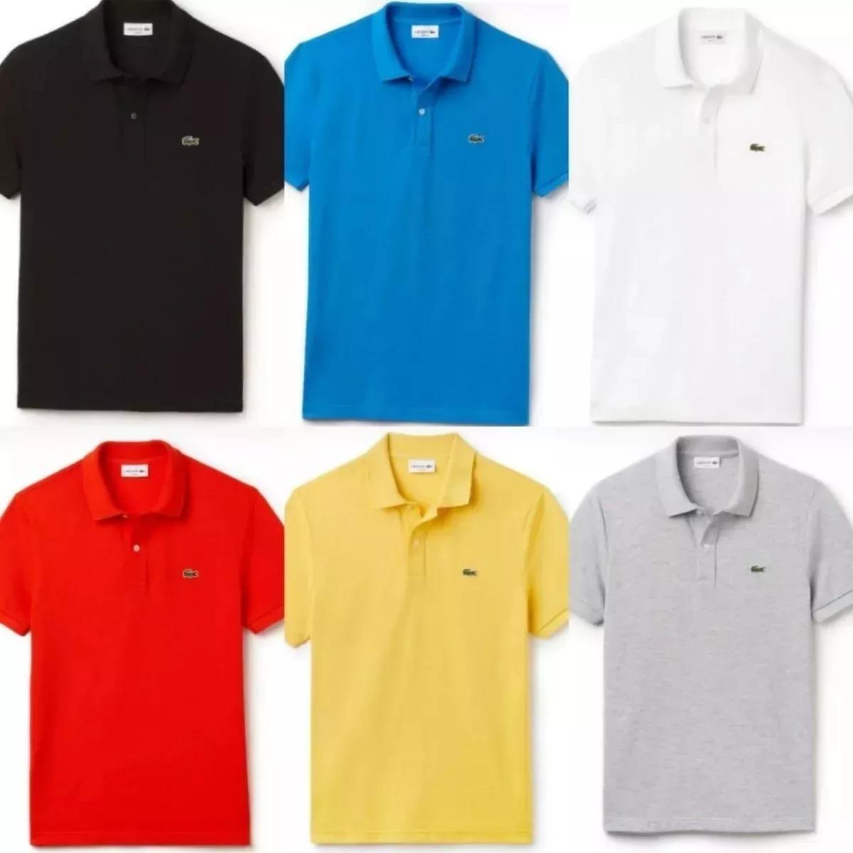 oferta kit 5 camisas camiseta gola polo masculina lacoste. Carregando zoom. f53858b2a2