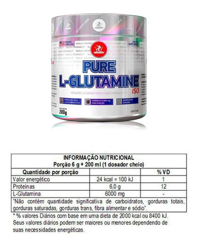 oferta l-glutamina powder 280g matéria importada - midway