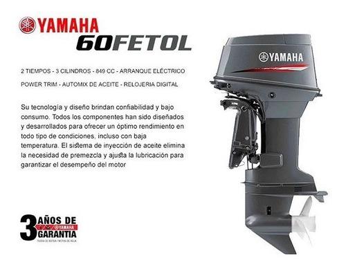 oferta! lancha g480 con motor yamaha 60hp 2t 0km nautica