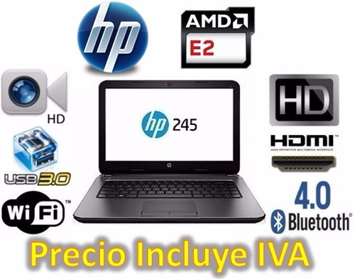 oferta laptop hp 245 g5 amd e2 4gb 500gb dvd teclado español
