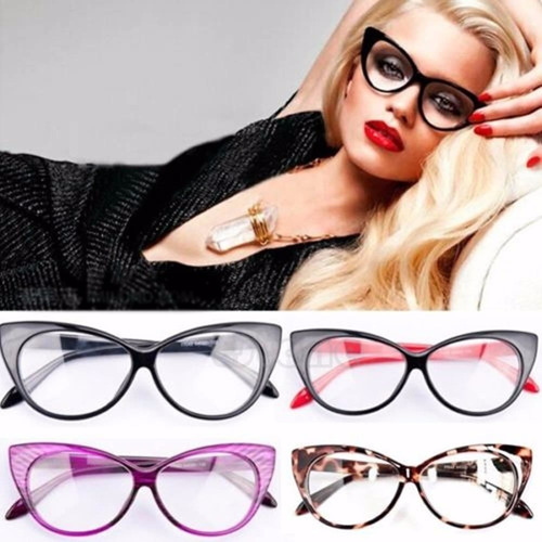 oferta lentes monturas cat eye / ojo de gato 10 colores