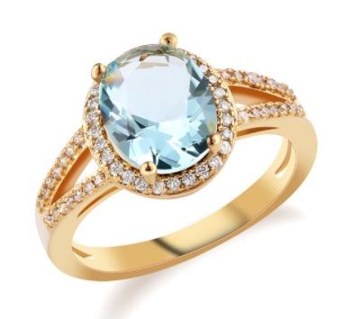 comprar popular 22130 66242 Oferta Lindos Anillos De Oro Y Plata De Cristal