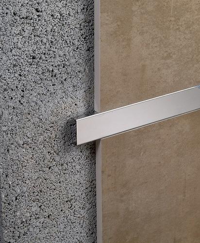 oferta listeles de acero inoxidable brillante 240 cm  x 25 c