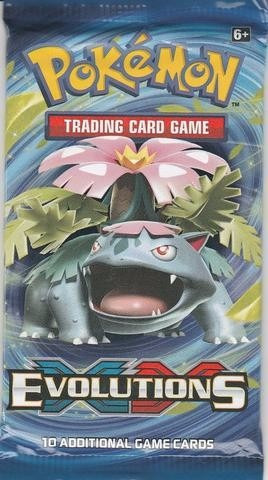 oferta! lote 6 sobres xy evolutions - booster cartas pokemon