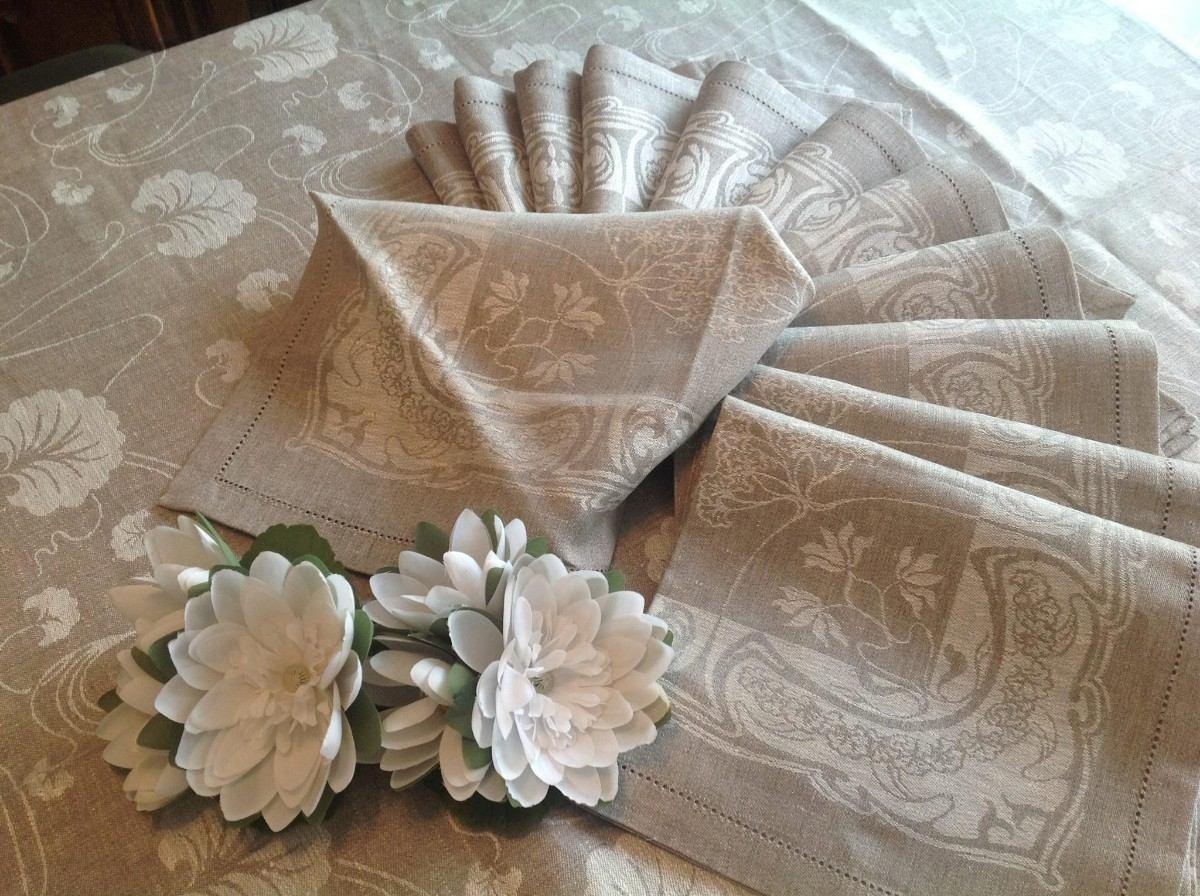 Manteles originales mantel de lino este mantel est fabricado con un lino muy fino y est - Manteles originales ...