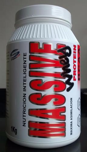 oferta!!! massive punch x 1 kg. aumento de masa muscular