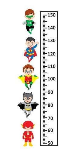 oferta medidor infantil liga justicia bebes - regla 1m