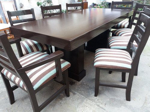 oferta mesa 2.00x090 pata king + 6 sillas + 2 cabeceros