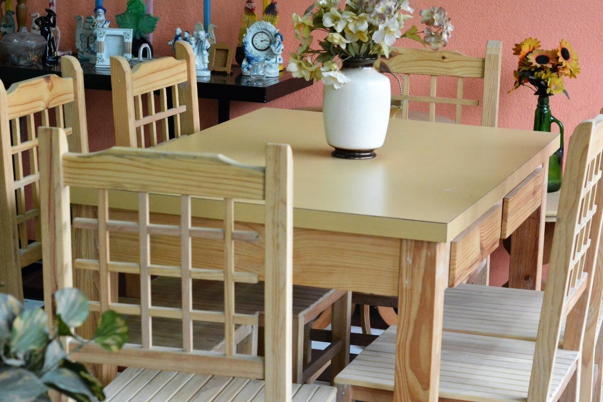Oferta Mesa De Cocina Medidas 120 Por 80 Y Seis Sillas - $ 6.900,00 ...