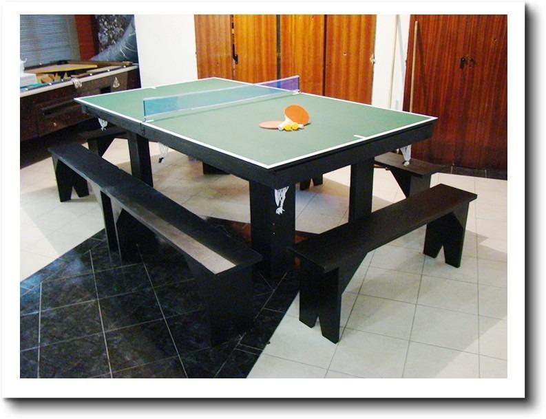 Oferta! Mesa De Pool 180 Comedor Y Ping Pong + Kits + Bancos ...
