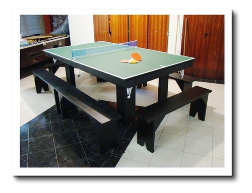 oferta! mesa de pool 180 comedor y ping pong + kits + bancos