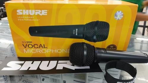 oferta microfono vocal dinamico shure sv200 cable estuche