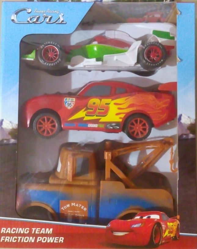 Oferta Navidad Autos Cars Rayo Mcqueen Set X 3 A Friccion 799