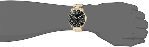 oferta new- fosil fs5267 grant sport chronograph gold-tone