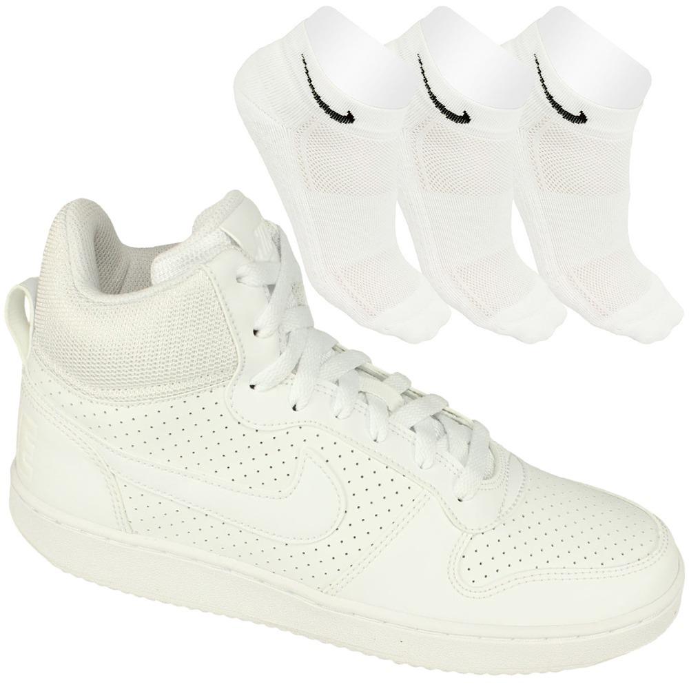 Oferta Nike Tênis Casual Branco Feminino+ 3 Meias Original! - R  339 ... a6cfed9eb2c