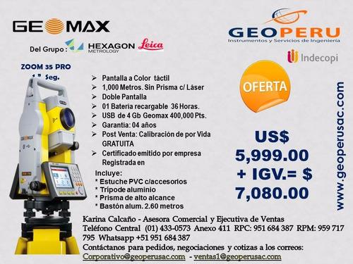 oferta noviembre-estación t. geomax modelo zoom 35 pro - 1