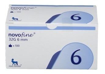 oferta ! novofine 32g 6mm x 100 agujas para insulina