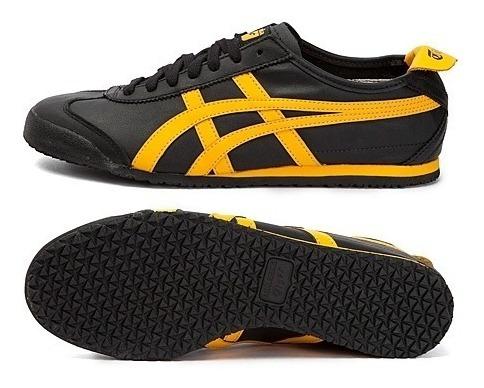 onitsuka tiger mexico 66 black and yellow 9s blanco