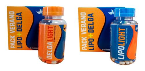 oferta pack lipo light 60 caps + delga light 60 caps en caja
