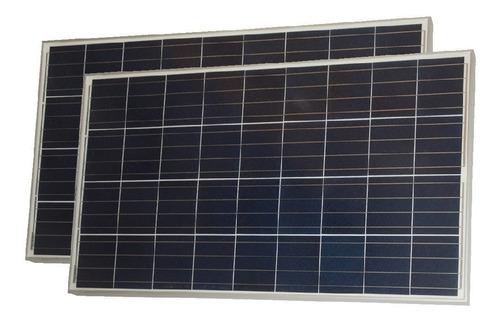 oferta pack x 2 panel solar 120w policristalino - enertik