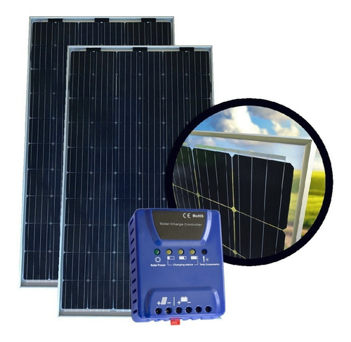 oferta pack x 2 panel solar 275w + regulador solar - enertik