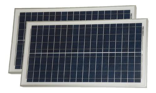 oferta pack x 2 panel solar 30w + regulador solar - cuotas