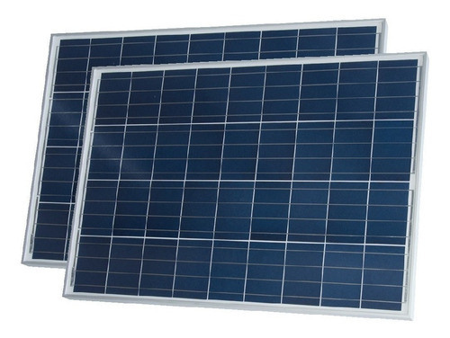 oferta pack x 2 panel solar 80w policristalino - enertik
