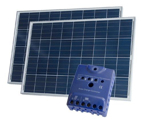 oferta pack x 2 panel solar 80w + regulador solar - enertik