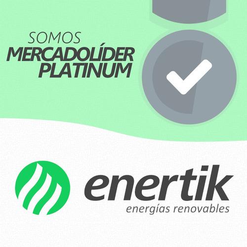 oferta pack x 2 panel solar 90w policristalino - enertik