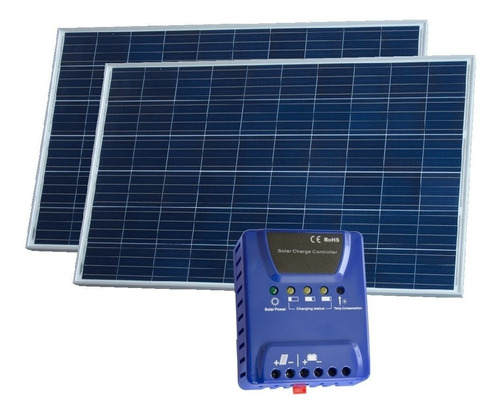 oferta pack x 2 panel solar mono 280w 24v + regulador solar