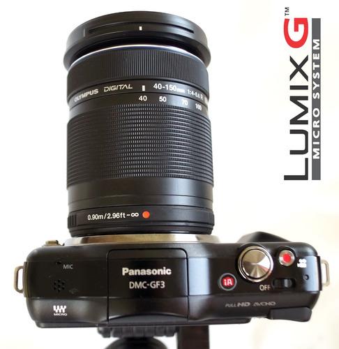 oferta panasonic lumix dmc-gf3 12 40-150mm nueva a estrenar