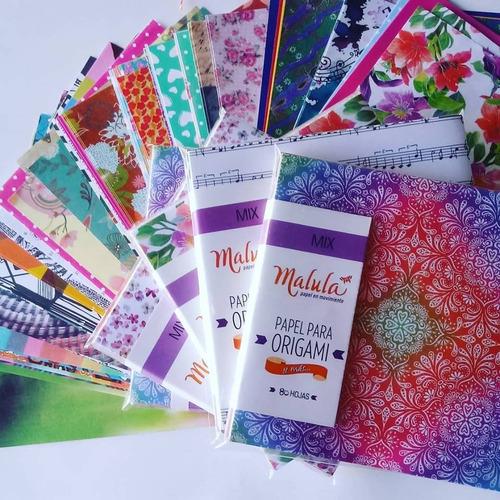 oferta! papel origami  malula 80 hojas variadas 15x15 mer en