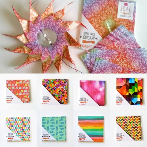 oferta! papel para origami  malula 50 hojas variadas 10x10