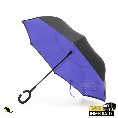 oferta- paraguas sombrilla invertido reversible doble capa