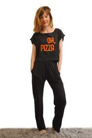 e393918d42 Pijamas Mujer Motivo Pizza - Ropa y Accesorios en Mercado Libre ...
