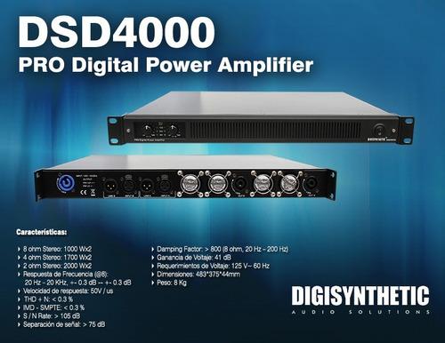 oferta poder amplificador dsd4000 digisynthetic envio gratis